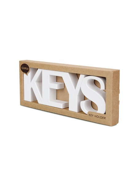 Portachiavi da parete magnetico in 2 alternative di colore - KEYS by QUALY