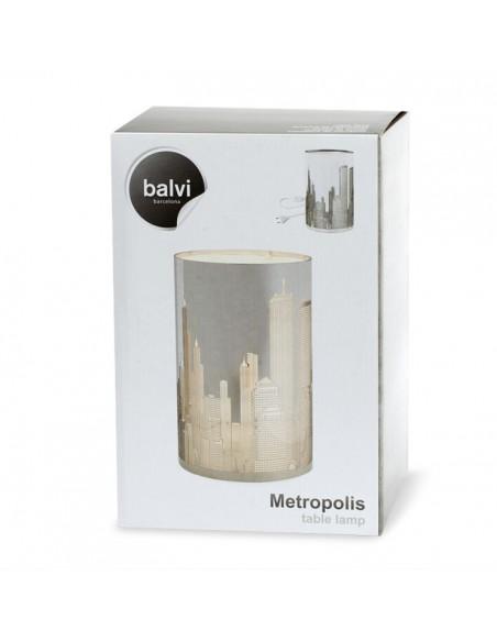 Lampada da tavolo luci della città inox - METROPOLIS by Balvi