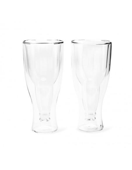 Set 2 bicchieri da birra doppio vetro 400 ml - GRAVITY by Balvi