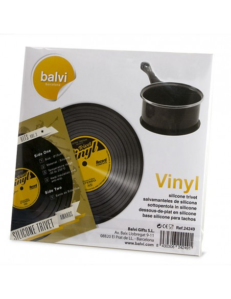 Sottopentola a forma di disco 45 giri in silicone - THE COASTER by Balvi