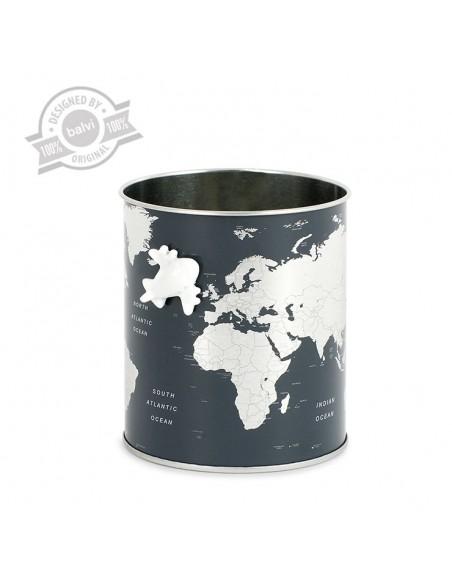 Portapenne in metallo mappa del mondo - GLOBE by Balvi