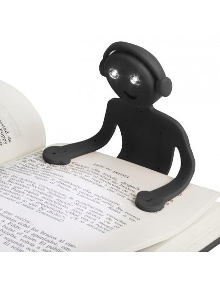 Luce da lettura in silicone colore nero - ANDROID by Balvi