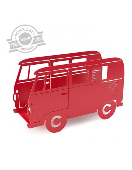 Portariviste in metallo colore rosso - VAN by Balvi