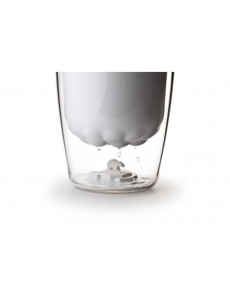 Secchiello per il ghiaccio con pinza colore bianco - POLAR ICE by Qualy