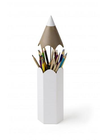 Contenitore per penne e matite colore bianco - DINSOR by QUALY DESIGN