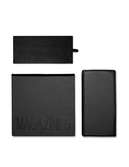 Portariviste e sgabello colore nero - RELAX by Balvi
