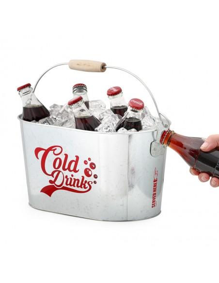 Secchiello per il ghiaccio con 2 apribottiglie metallo - COLD DRINKS by Balvi