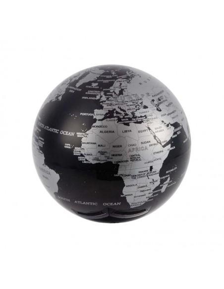 Mappamondo movimento rotatorio continuo colore nero - MAGIC 360° by Balvi