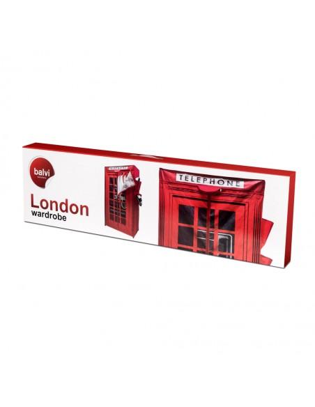 Armadio in tela cabina telefonica colore rosso - LONDON by Balvi