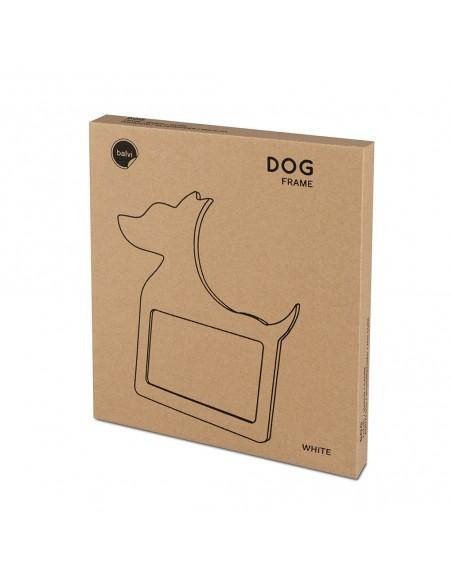Portafoto sagoma di cane in legno mdf colore bianco - DOG by Balvi
