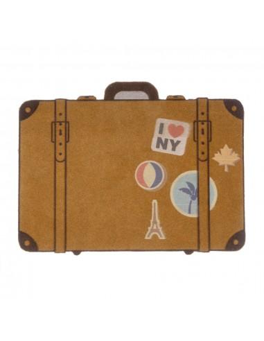 Zerbino a forma di valigia in poliestere - LUGGAGE by Balvi
