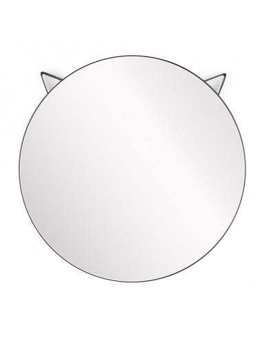 Specchio da parete rotondo gatto colore nero - CAT by Balvi