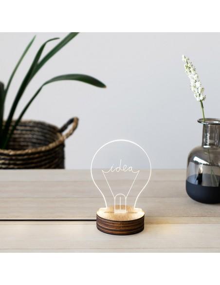 Lampada da tavolo usb forma di lampadina - IDEA by Balvi