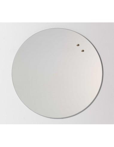 Lavagna circolare magnetica in vetro 45 cm specchio - NORD by NAGA