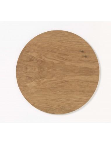 Lavagna magnetica circolare in legno Teak 45 cm - NORD by NAGA