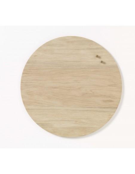 Lavagna magnetica circolare in legno Oak quercia 45 cm - NORD by NAGA