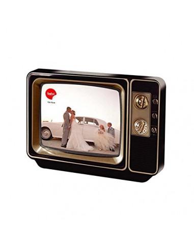 Portafoto in metallo televisore vintage 10x15 - Photovision by Balvi