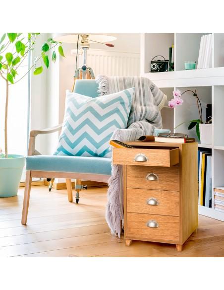 Tavolino portariviste con cassetti colore rovere - COQUETTE by Balvi