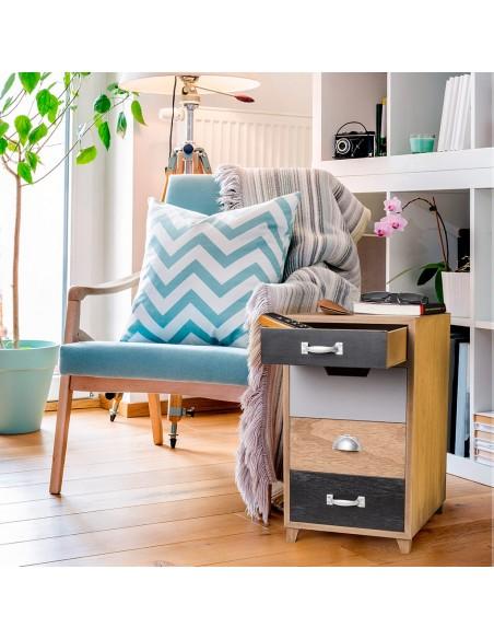 Tavolino portariviste con cassetti multicolore - COQUETTE by Balvi