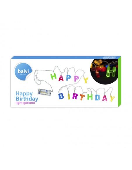 Catena luminosa per compleanni con lettere colorate - HAPPY BIRTHDAY by Balvi