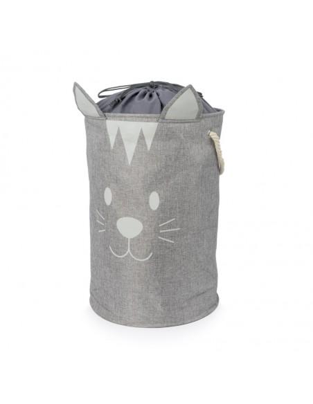 Portabiancheria pieghevole gatto colore grigio - MEOW! by Balvi