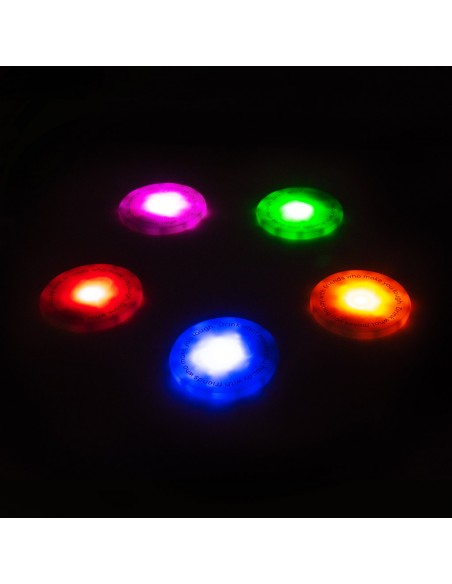 5 Sottobicchieri con led colorati  - UFOs by Balvi