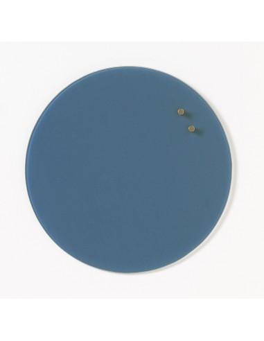 Lavagna magnetica circolare in vetro 35 cm colore azzurro jeans - NORD by NAGA