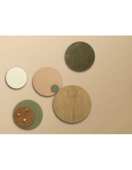 Lavagna magnetica circolare in vetro 35 cm colore marmo verde olive - NORD by NAGA