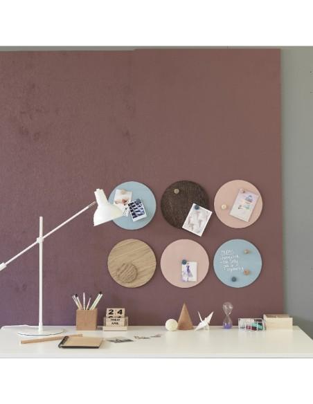 Lavagna magnetica circolare in legno 25 cm colore noce - NORD by NAGA
