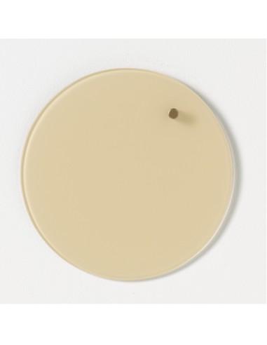 Lavagna magnetica circolare in vetro 25 cm colore crema - NORD by NAGA