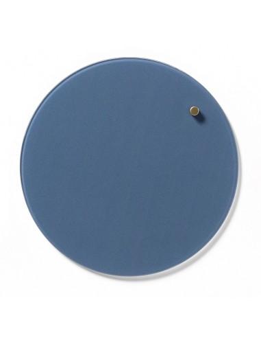 Lavagna magnetica circolare in vetro 25 cm colore azzurro jeans - NORD by NAGA