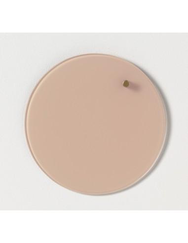 Lavagna magnetica circolare in vetro 25 cm colore rosa - NORD by NAGA