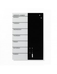 Week planner lavagna magnetica in vetro settimanale 40x60 cm by Naga