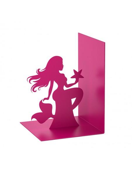 Fermalibri in metallo colore rosa - SIREN by Balvi