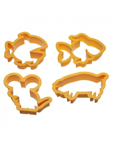 Set 4 tagliapasta in plastica animali by Decora
