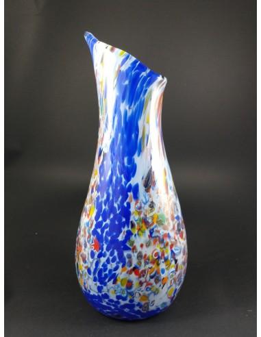 Vaso in vetro di Murano con murrine e inclusioni bronzo h 37 cm - The Glass Cathedral Santa Chiara
