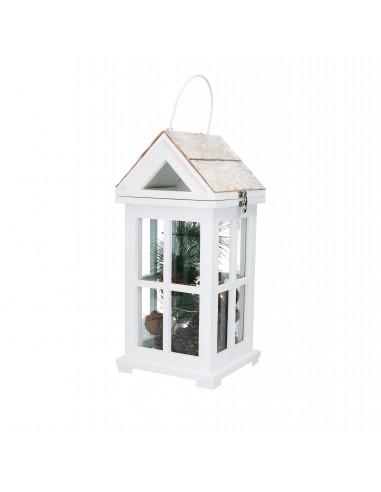 Lanterna bosco alta legno con piante e luce led h 38 cm - INCANTO by Rituali Domestici