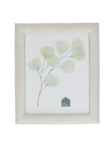 Portafoto da tavolo in resina colore bianco h 30 cm - SPINATO by Rituali Domestici