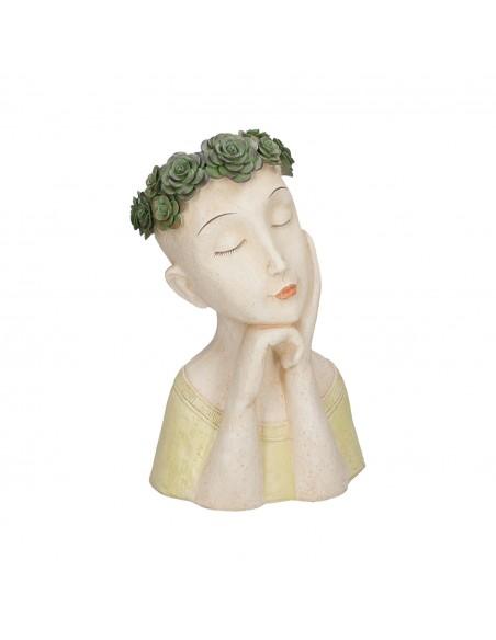 Portavaso in resina mezzo busto h 35 cm - MEDEA MAGDA by Rituali Domestici