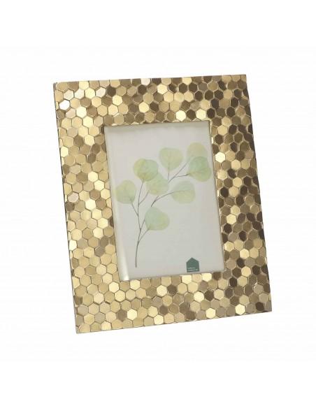 Portafoto da tavolo in resina colore oro h 25 cm - ESAGOROSO by Rituali Domestici
