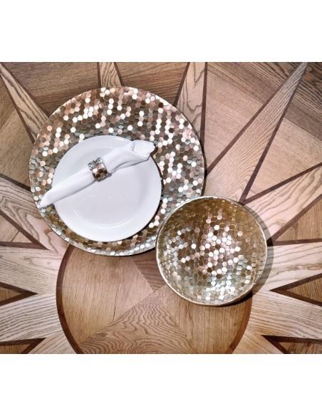 Set 6 anelli legatovaglioli in resina 2 alternative di colore - ESAGOROSO by Rituali Domestici