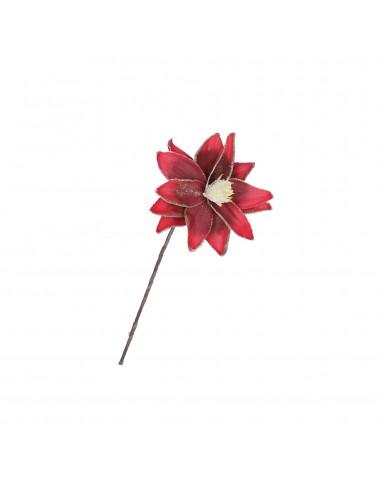 Fiore artificiale stella di natale rosso oro h 30 cm - FLORA by Rituali Domestici