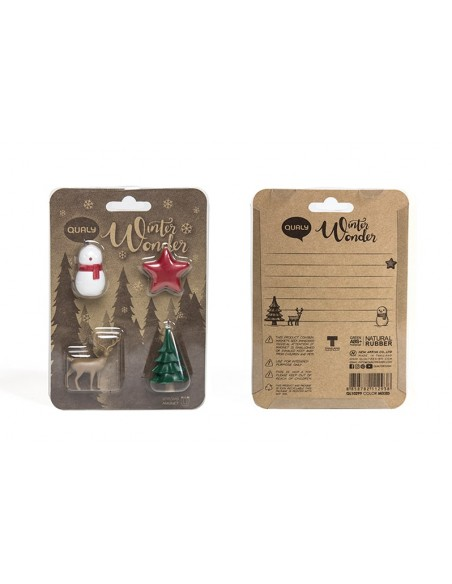 Set 4 magneti tema natalizio - WINTER WONDER by Qualy Design
