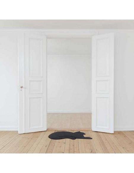 Zerbino sagomato a forma di gatto colore grigio - CAT by Balvi