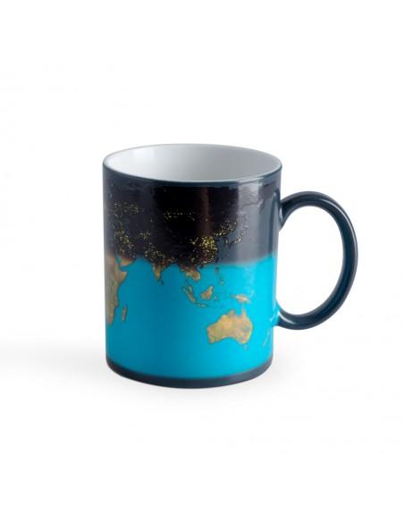 Tazza Mug cambia colore con disegno mappamondo - SUNRISE by Balvi