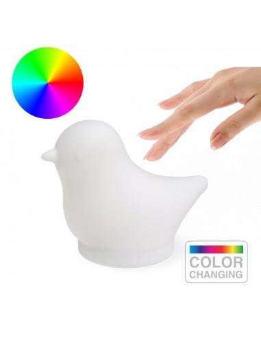Lampada luce multicolore touch usb uccellino - BIRDIE by Balvi