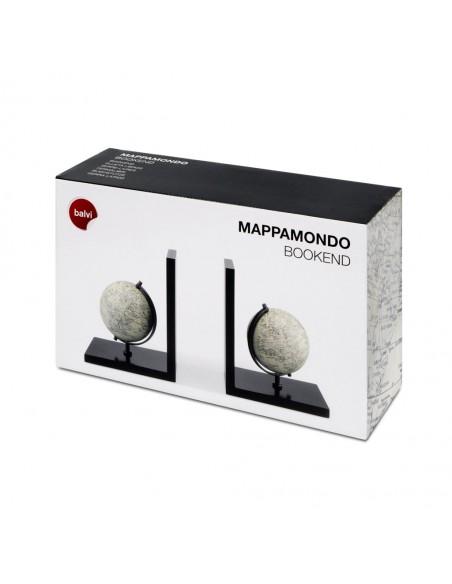 Fermalibri doppio in legno - MAPPAMONDO by Balvi