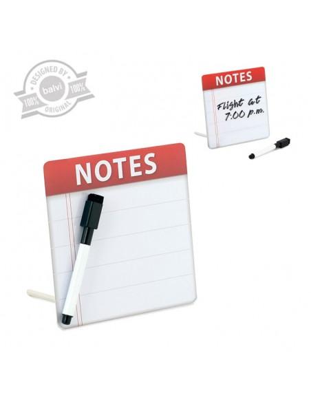 Piccola lavagna magnetica con pennarello e cancellino - NOTES by Balvi