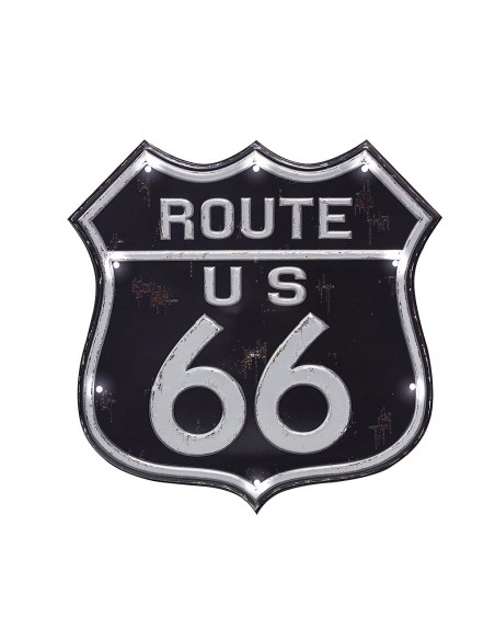 Decorazione murale targa con led cm 31 - ROUTE 66 by Balvi
