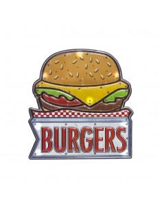 Decorazione murale targa con led cm 31 - BURGER by Balvi